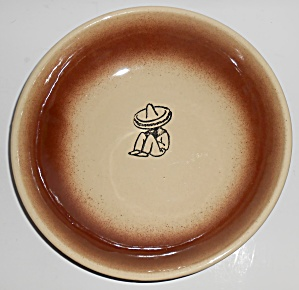 Vintage Watt Pottery Oven Ware 11'' Mexican Bowl