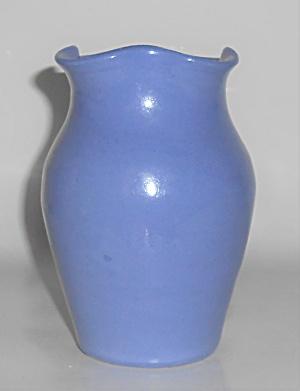 Bybee Pottery Blue Wheel Thrown Ruffled Vase (Image1)