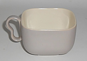 Franciscan Pottery Metropolitan Duotone Grey/ivory Cup