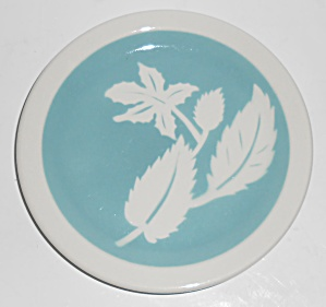 Wallace China Restaurant Ware Lt Blue Airbrushed Leaves