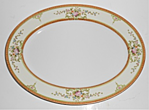 Noritake Porcelain China Floral W/gold Platter