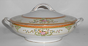 Noritake Porcelain China Floral W/gold Covered Veg