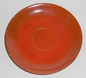 Catalina Island Pottery Toyon Red Saucer #9