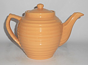 Bauer Pottery Ring Ware Yellow Teapot