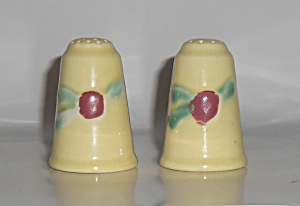 Coors Pottery Rosebud Yellow Salt & Pepper Shaker Set