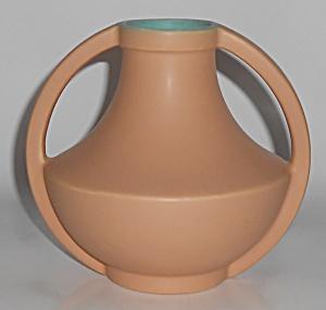 Coors Art Pottery Tan/Green Golden Vase (Image1)