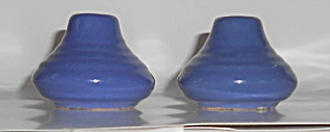 Bauer Pottery Ring Ware Cobalt Low 5-hole Shaker Set