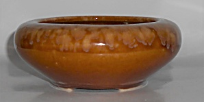 Brush Mccoy Art Pottery Brown Onyx #01 Bowl