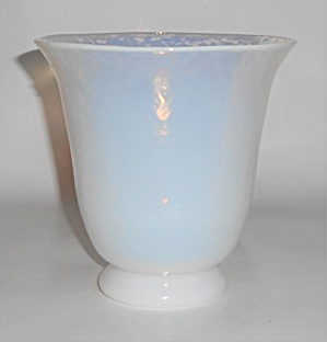Yalos Casa Art Glass Murano White Opalescent Vase (Image1)