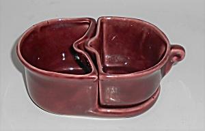 Camark Pottery Maroon Demitasse Creamer/Sugar Bowl Set (Image1)