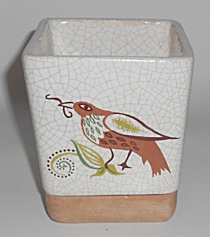 Barbara Willis Pottery Early Provincial Bird Square Flo (Image1)