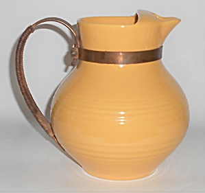 Bauer Pottery Ring Ware Yellow Ice Lip Pitcher