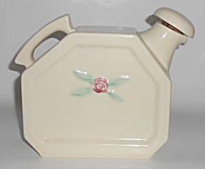 Coors Pottery Rosebud White / Ivory Water Server W/cap