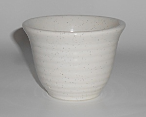Bauer Pottery Ring Ware White Speckle Custard Cup