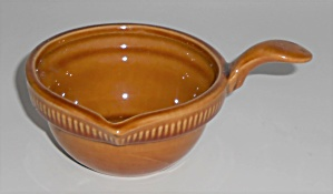 Franciscan Pottery Wheat Harvest Brown Center Dip Bowl