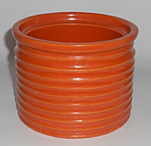 Bauer Pottery Ring Ware Orange #2 Spice Jar - No Lid