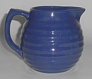 Bauer Pottery Ring Ware Cobalt 1.5 Pint Pitcher