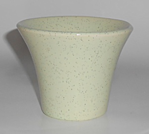 Bauer Pottery 3'' Green Speckle Spanish Flower Pot
