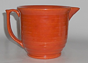 Bauer Pottery Ring Ware Orange Beating Bowl Pitcher