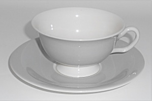 Franciscan China Encino Breakfast Grey Cup & Saucer Set