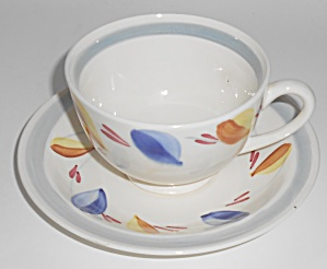Vernon Kilns Pottery Hand Decorated Susan Cup & Saucer