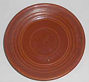 Bauer Pottery Ring Ware Red/brown Saucer