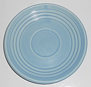 Bauer Pottery Ring Ware 3rd Period Lt Blue Saucer