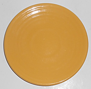 Bauer Pottery Ring Ware 1st Period Yellow Saucer