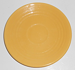 Vintage Bauer Pottery Ring Ware Yellow Saucer