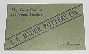 1992 Early Bauer Pottery Catalog Reprint
