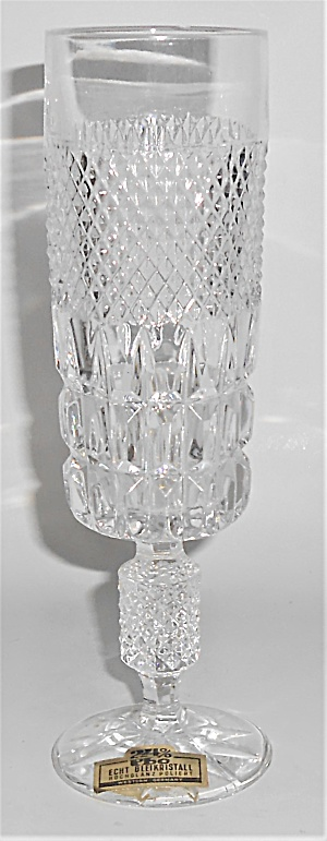 West Germany Lead Crystal Fluted Champagne Glass W/st