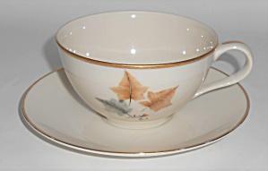 Ohata Japan China Porcelain Topaze Cup & Saucer Set w/G (Image1)