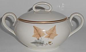 Ohata Japan China Porcelain Topaze Sugar Bowl w/Gold (Image1)