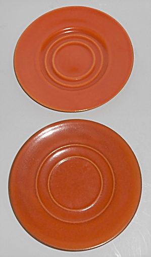 Pacific Pottery Hostess Ware Pair Apache Red Saucers