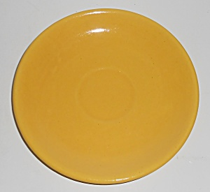 Catalina Island Pottery Yellow Coupe Saucer (Image1)