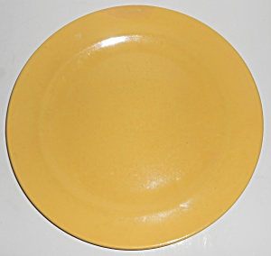 Catalina Island Pottery Yellow 10'' Dinner Plate