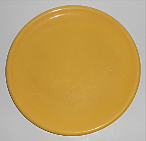 Catalina Island Pottery Yellow 10'' Rolled Rim Plate (Image1)