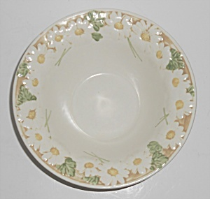 Metlox Pottery Poppy Trail Sculptured Daisy Rim Cereal