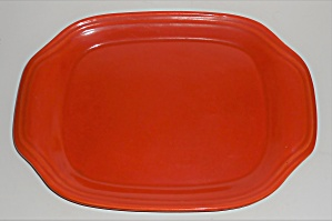 Bauer Pottery Monterey Ring Orange Platter
