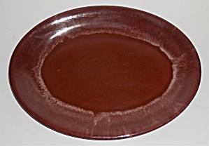 Vernon Kilns Pottery Heritage Brown Platter (Image1)