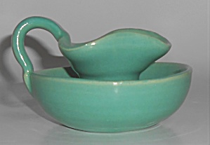 Bauer Pottery Matt Carlton Jade Candlestick Holder