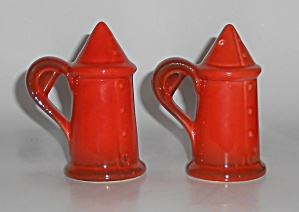 Metlox Poppy Trail Pottery Red Rooster Salt & Pepper Sh