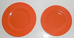 Metlox Pottery Poppy Trail Series 200 Orange Pr Plates (Image1)