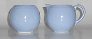 Vernon Kilns Pottery Modern California Azure Blue Demi (Image1)