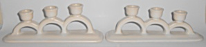 Pacific Pottery Matte White Pair Triple Candlesticks (Image1)