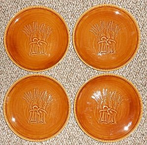 Franciscan Pottery Wheat Harvest Brown Set/4 Dinner