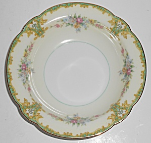 Noritake Porcelain China Rosamund W/gold Fruit Bowl