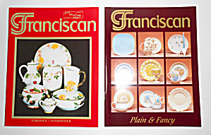 Pr Franciscan Pottery Plain & Fancy - Handpainted Books