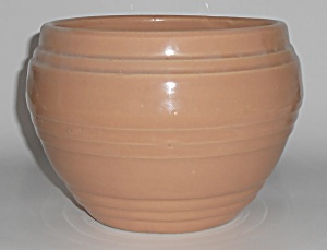 "Pacific Pottery Apricot 7"" Banded Jardiniere"