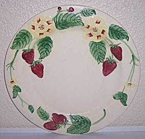 Pacific Pottery Strawberry Decorated Dinner Plate